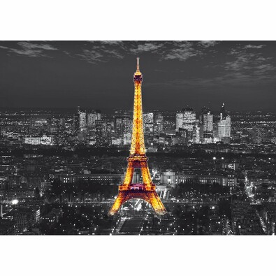 Fototapeta XXL Eiffelova věž v noci 360 x 270 cm, 4 díly