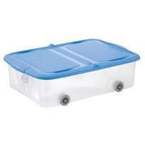 Tontarelli Úložný box s vekom Stockbox 25 l, transparentná/modrá