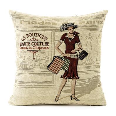 Povlak na polštářek Gobelín žena butik, 45 x 45 cm