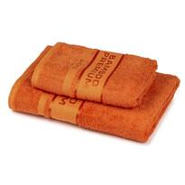 4Home Bamboo Premium törölköző és fürdőlepedő szett narancssárga, 70 x 140 cm, 50 x 100 cm