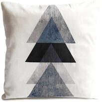 Polštářek Black Trojúhelníky, 40 x 40 cm