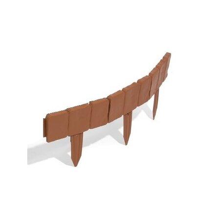 Kerti paliszád - terakota szegéllyel, 2,5 m