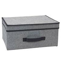 Úložný box s víkem 39 x 29 x 19 cm, černá