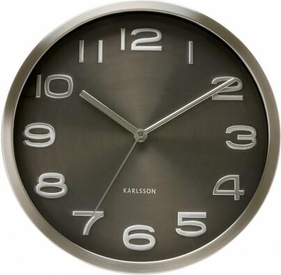 Nástěnné hodiny 4461 Karlsson, černá