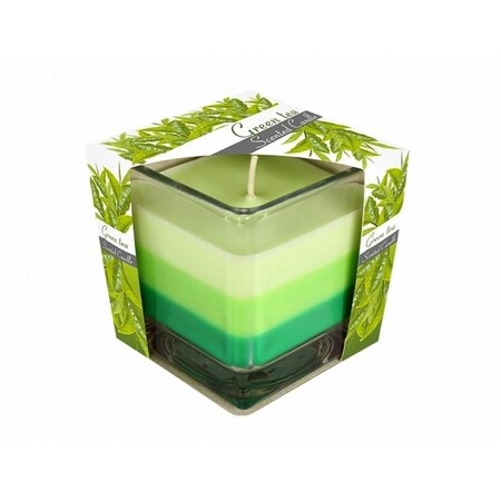 Svíčka ve skle Duha Zelený čaj, 170 g