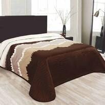 Přehoz na postel Celiné hnědá, 140 x 220 cm