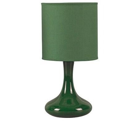 Keramická stolní lampa Rabalux Bombai 4244, zelená, pr. 15 x 31 cm