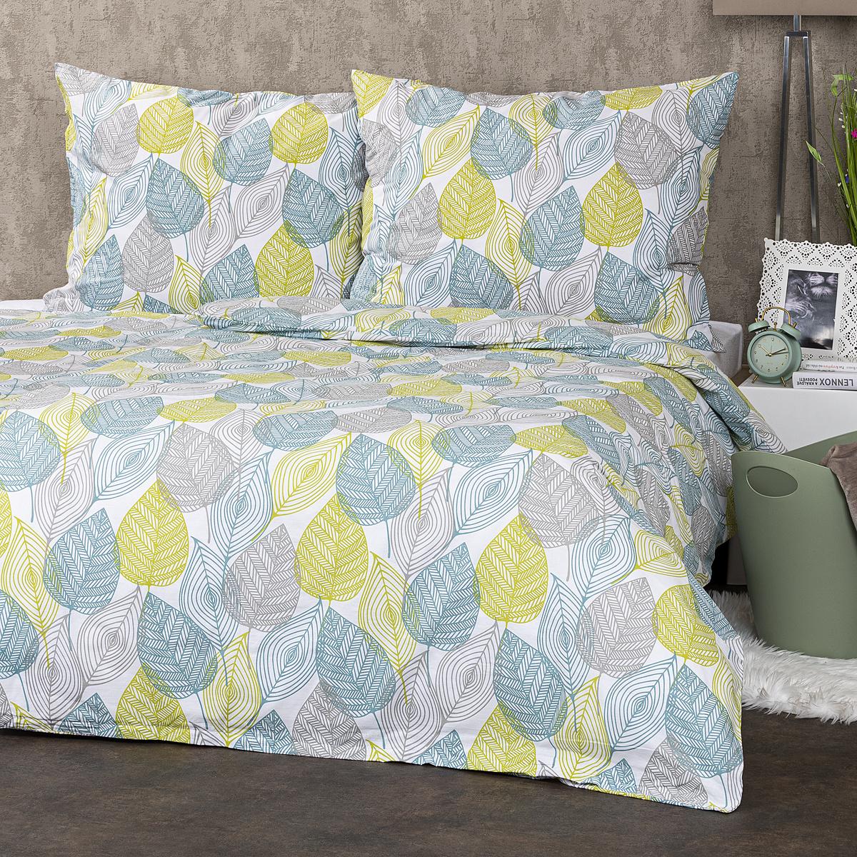 4Home Bavlnené obliečky Nordic Leaves, 200 x 220 cm, 2 ks 70 x 90 cm