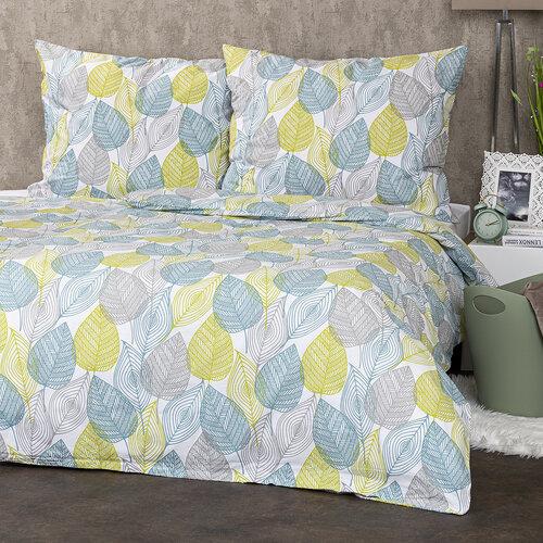 4Home Bavlnené obliečky Nordic Leaves, 140 x 200 cm, 70 x 90 cm