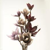 Umělá květina magnolie fialová