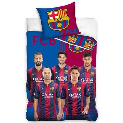 Bavlněné povlečení Barcelona Team 2015, 140 x 200 cm, 70 x 80 cm