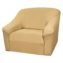 4Home Pokrowiec multielastyczny na fotel, beżowy