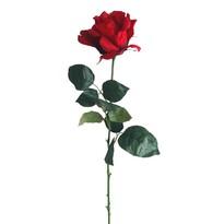 Umělá květina Růže červená, 60 cm