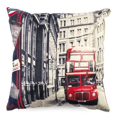 Față de pernă London Double Decker, 45 x 45 cm