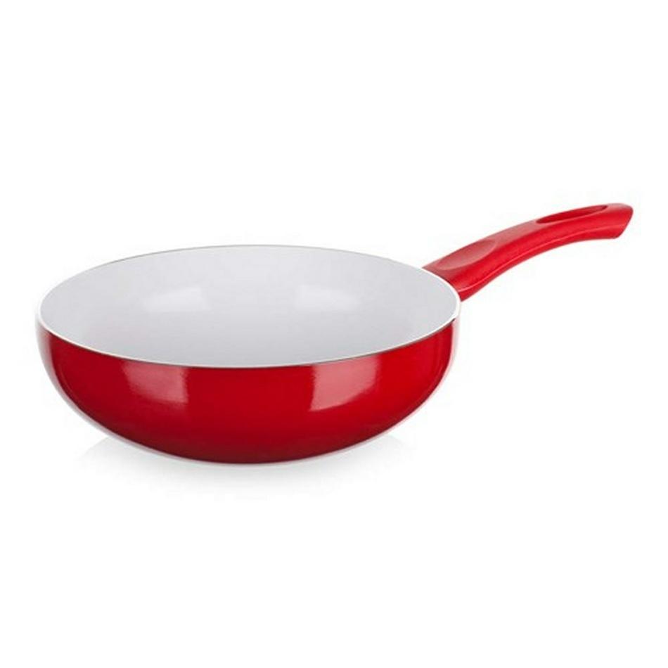 Panvica WOK Red Culinaria červená, 24 cm, Banquet