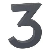 Număr casă 3 suprafață în relief, din aluminiu, 3D