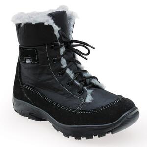 Santé dámská zimní obuv s kožíškem černá