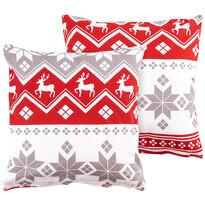 4Home Obliečka na vankúšik Red Nordic, 2 ks 40 x 40 cm