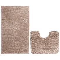 AmeliaHome Komplet dywaników łazienkowych Bati jasnobrązowy, 2 szt. 50 x 80 cm, 40 x 50 cm