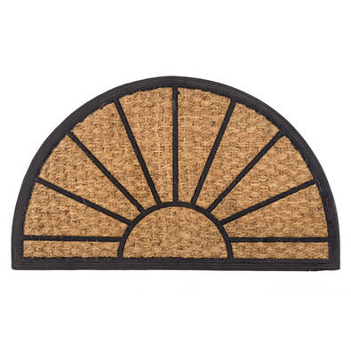 Venkovní rohožka Exotic 2 půlkruh, 45 x 75 cm