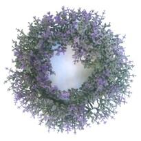 Bukszus műkoszorú, lila, átmérő: 16 cm