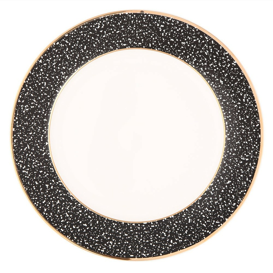 Altom 6-dielna sada dezertných tanierov Granit 20 cm, čierna