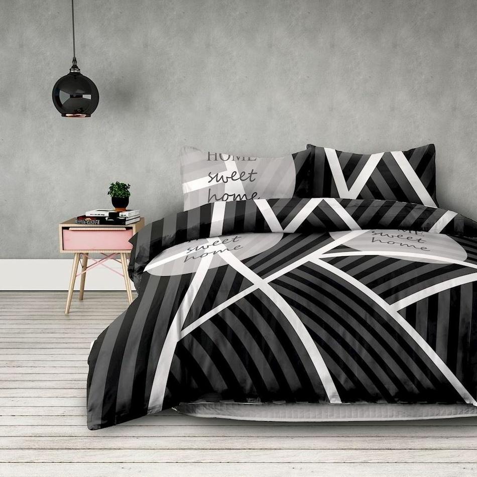 AmeliaHome Obliečky Sweet Home dark, 200 x 220 cm, 2 ks 70 x 90 cm