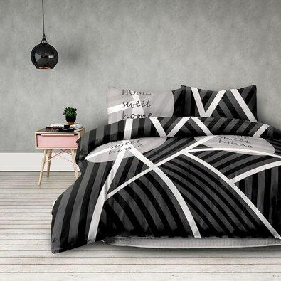 AmeliaHome Povlečení Sweet Home dark, 200 x 220 cm, 2 ks 70 x 90 cm