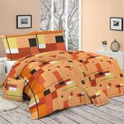 Bavlněné povlečení Scarlet oranžová, 140 x 200 cm, 70 x 90 cm