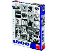 Puzzle Psi Dino Toys, 1500 dílků, šedá