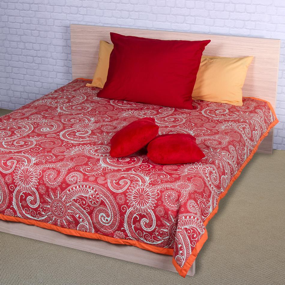 Night in Colours Přehoz na postel Sal červená/bílá, 220 x 240 cm