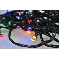 Solight Svetelná vonkajšia reťaz 50 LED s časovačom, 5 m, farebná