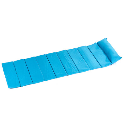 Plážová rohož skládací modrá 180 x 60 cm