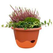 Samozavlažovací květináč Mareta 30 oranžová závěsný