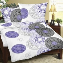 Bellatex Krepové obliečky Mandala fialová