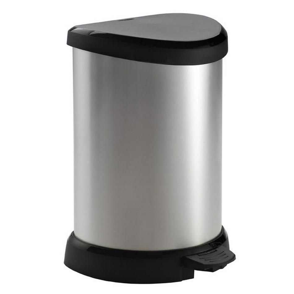 Curver DECOBIN pedal odpadkový koš 20 L, stříbrná