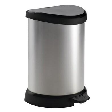 Curver Decobin odpadkový koš 20 l stříbrná