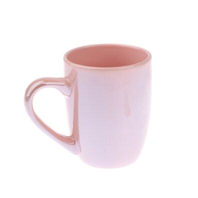 Kameninový hrnek perleťový 330 ml, růžová