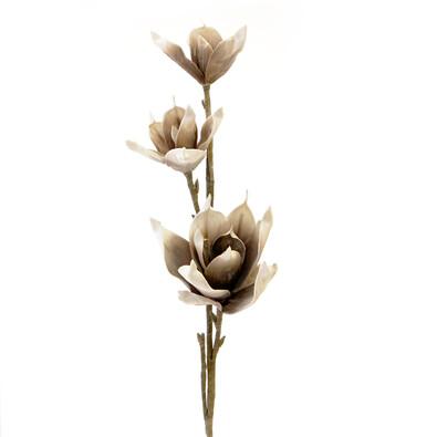 Umělá květina magnolie hněda