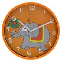 Ceas de perete Elephant, portocaliu, 23 cm