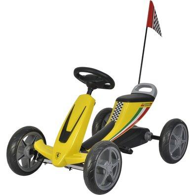 Buddy Toys BPT 2002 Šlapací kára Ferrari Go Kart, žlutá
