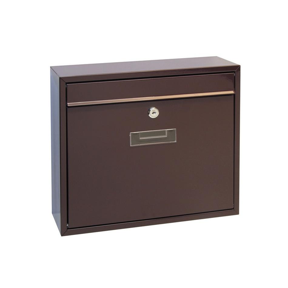 Richter Stalowa skrzynka pocztowa Tarent, brązowy