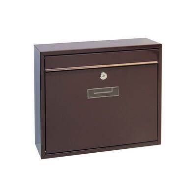 Poštovní ocelová schránka Tarent, hnědá