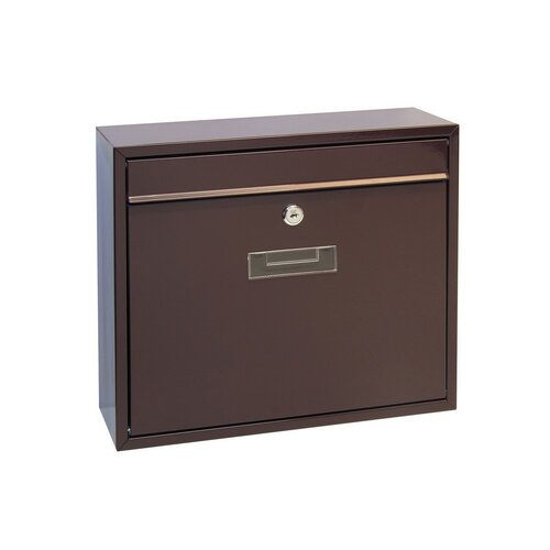 Cutie poştală din oţel Tarent, maro