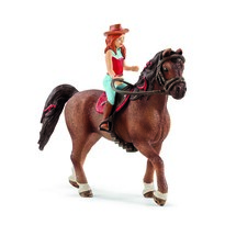 Schleich Hannah, a vörös hajú baba és  Cayenne, a ló