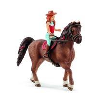 Schleich Rudowłosa Hannah i koń Cayenne