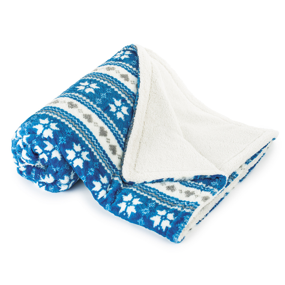 4Home Baránková deka Zimný sen modrá, 150 x 200 cm