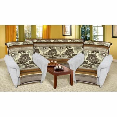 Cuverturi de canapea şi fotolii Karmela Plus, Floare, 150 x 200 cm, 2 buc. 65 x 150 cm