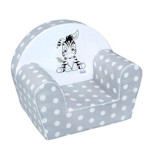 New Baby Zebra dětské křesílko šedá