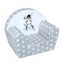 Fotoliu copii New Baby Zebra, gri, 42 x 53 cm